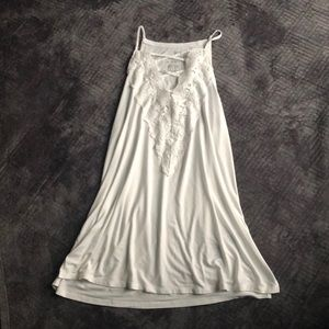 White High-Neck Crisscross Lace Tank Top!
